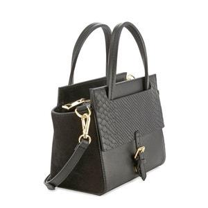 Leather Handbag with Python Print Detail COSMOPARIS