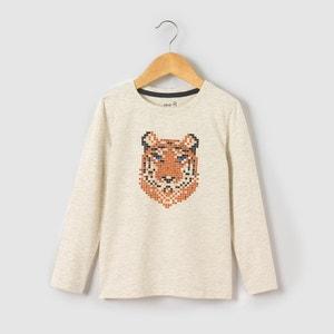 T-shirt maniche lunghe fantasia tigre 3-12 anni abcd'R