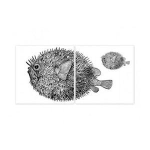 Stickers pour Carrelage de Cuisine ou Bain Blowfish WADIGA