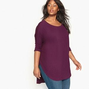 T-shirt lisa, gola redonda, mangas 3/4 CASTALUNA