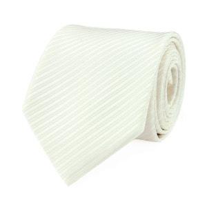 Cravate faux uni blanc cassé VIRTUOSE
