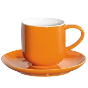 2 tassess à expresso orange en porcelaine - ASA SELECTION