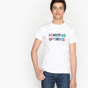 Bedrukt T-shirt met ronde hals 10-16 jaar La Redoute Collections