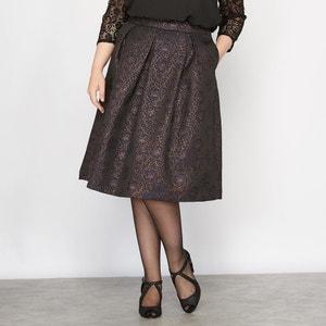 Shiny Jacquard Skater Skirt CASTALUNA
