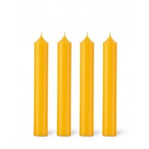 Coffret 12 bougies classiques 7h jaune safran BOUGIES LA FRANÇAISE
