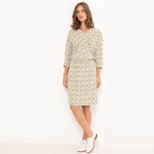 Gekruiste jurk met triangelprint R essentiel