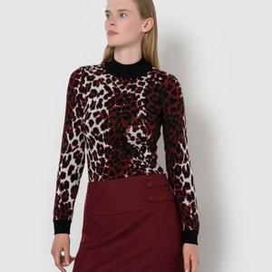 Sweterek ze wzorem w panterkę ISABELLE THOMAS X LA REDOUTE MADAME