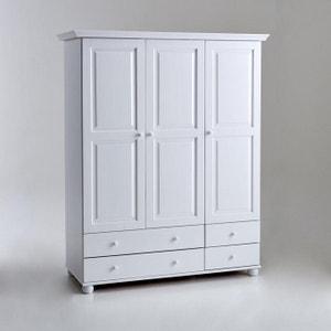 Harold Solid Pine 3-Door Wardrobe La Redoute Interieurs