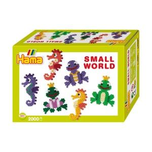 Perles à repasser Hama Midi : Collection Le monde miniature : Hippocampes et grenouilles HAMA