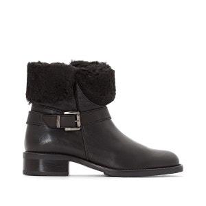 Boots cuir fourrées JONAK