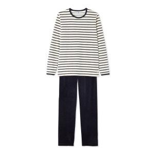 Pyjama garçon en bouclette velours PETIT BATEAU