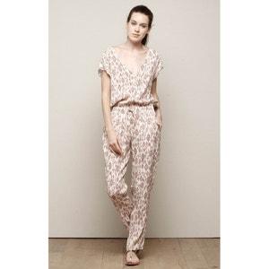Combinaison pantalon manches courtes imprimée CHARLISE