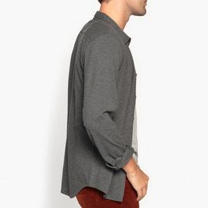 Koszula slim z pikowanej dzianiny 100% bawełna La Redoute Collections