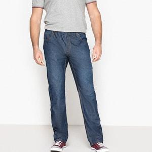 Vaqueros ligeros con corte 5 bolsillos y cintura elástica, rectos CASTALUNA FOR MEN