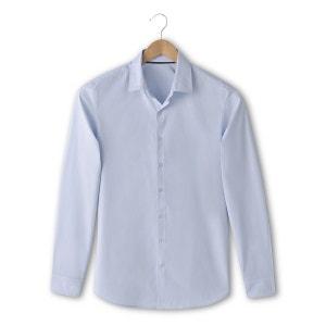 Camisa de manga larga, corte slim, lisa R essentiel