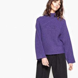 Пуловер из плотного трикотажа с воротником-стойкой La Redoute Collections