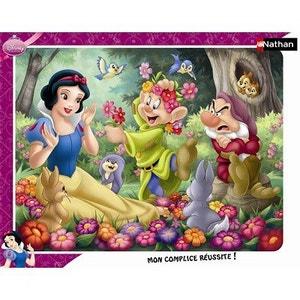 Disney Princess - Puzzle Cadre 35 Pièces -  Blanche Neige en Fleur - RAV86079 NATHAN