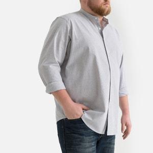 Recht hemd met Maokraag en smalle strepen