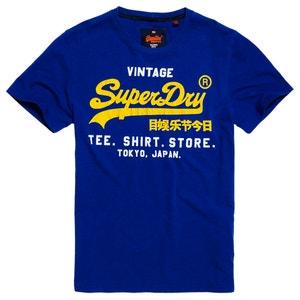 T-shirt scollo rotondo, motivo davanti SUPERDRY