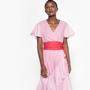 Kleid, gestreift, Volants La Redoute Collections