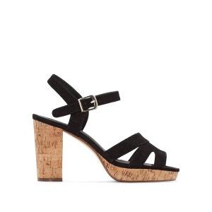 Sandales talon liège pied large 38-45 CASTALUNA