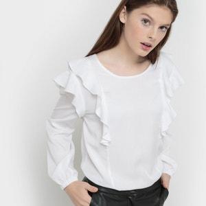 Blusa de mangas compridas com folho RADIANTE KARL MARC JOHN