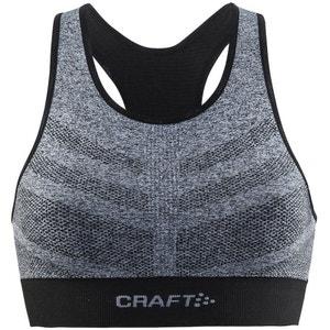 Comfort Mid Impact - Brassière de sport - gris/noir CRAFT