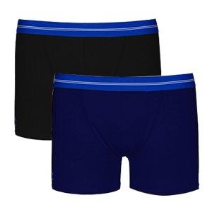 Duo de boxers noir et bleu marine DAGOBEAR