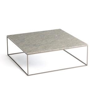 Mesa baja de metal y mármol gris, Mahaut