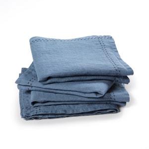 Lote de 4 servilletas de lino lavado Makan
