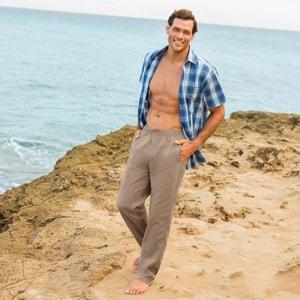 Straight Cotton Trousers CASTALUNA FOR MEN image