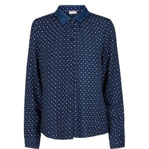 Marica Laced Collar Polka Dot Shirt NUMPH