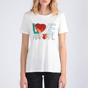 T-shirt met ronde hals en Love print op de borst