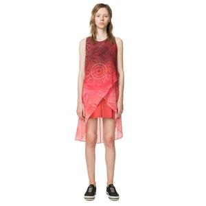 Kurzes Kleid, grafisches Muster, ärmellos, gerade Form DESIGUAL