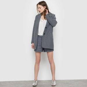 Długi, żakardowy płaszcz SUNCOO
