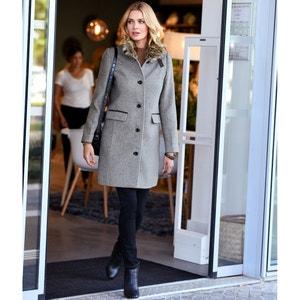Lange jas, kraag in imitatiebont