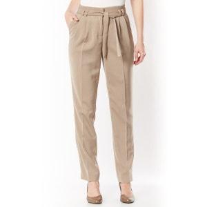 Pantalon à pinces, crêpe fluide ANNE WEYBURN