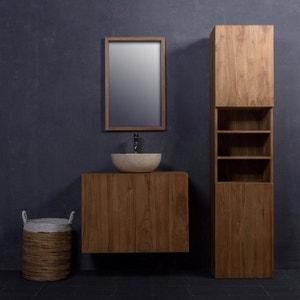 ensemble de salle de bain en bois de teck 80 meuble colonne vasque - Colonne Vasque Salle De Bain