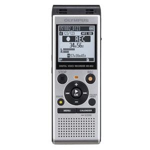 Dictaphone numérique  WS-852 avec microphones stéréo à faible bruit et support de table - USB rétractable - 4 Go OLYMPUS