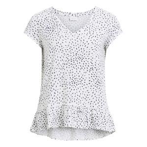 Printed Peplum T-Shirt VILA