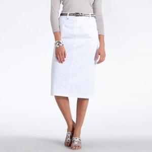 jupe droite blanche la redoute