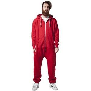 Combinaison Grenouillère URBAN CLASSICS Rouge / Blanc Jumpsuit URBAN CLASSICS