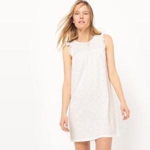 Knee Length Smocked Dress with Ruffles R studio