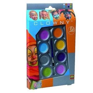 Palette de maquillage Aqua 8 couleurs Clowny : Tendance SES CREATIVE