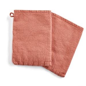 Set of 2 Kiramy Cotton/Linen Wash Mitts