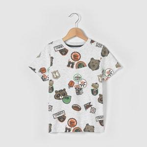 Multi Badge Print T-Shirt, 3-12 Years abcd'R