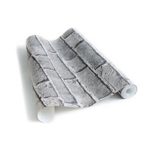 BRIQUES - papier peint gris cendré KOZIEL