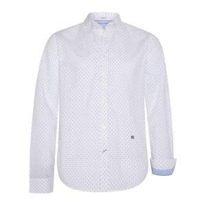 Bedrukt slim hemd Davon