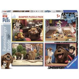 Comme des bêtes - Puzzles 4 x 100 pièces - RAV06860 - RAV6860 NATHAN