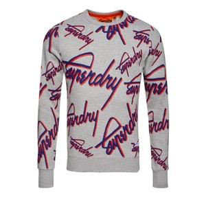 Sweat-shirt ras du cou imprimé Crew SUPERDRY